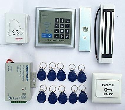 125Khz RFID Id Card Reader Password and Keypad Door Lock Access Control Kit