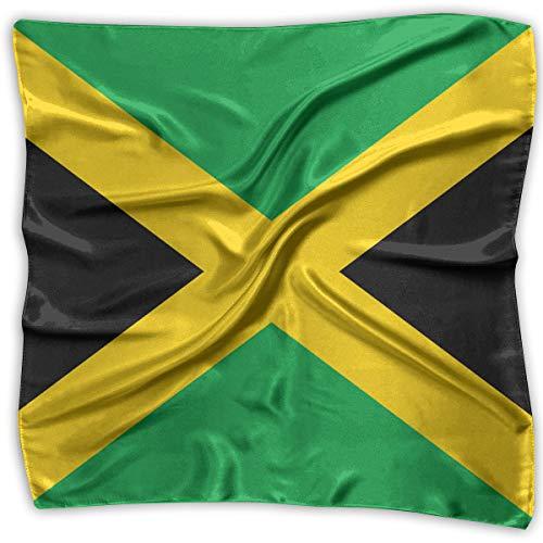 ChunLei Women's Flag of Jamaica Polyester Pocket Square Mulipurpose Silk Shawl Bandanas Neckerchief Hair Scarf ()