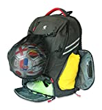 RitzKitz The Ultimate Sports Bag | Backpack for Soccer, Basketball, Football, School, Gym, Travel | Separate Ball, Shoe, Laptop & Dirty Clothes Compartments | for Boys, Men, Youth, Girls & Women