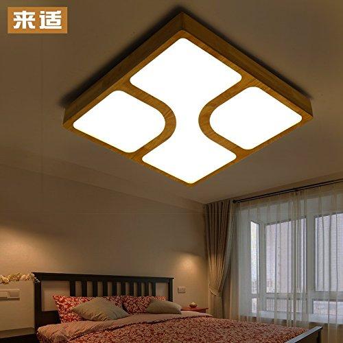JJ Moderne LED Deckenleuchte Kreative japanische Echtholz dimmbare ...