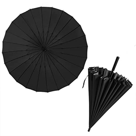 541344a10e46 Amazon.com: Double Umbrella Surface 24 Ribs 45.2inch/115cm Large ...