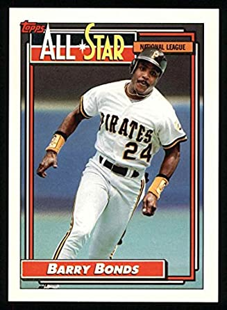 Amazoncom 1992 Topps 390 All Star Barry Bonds Pittsburgh