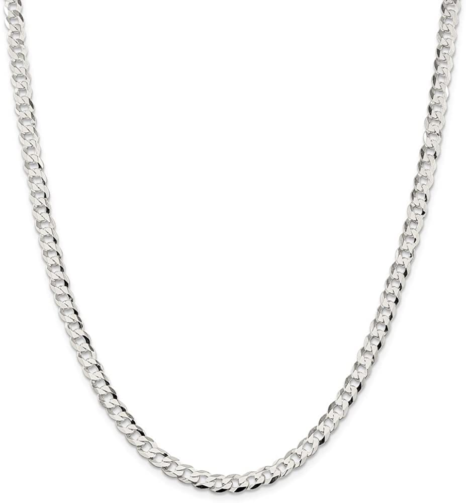 Sterling Silver 5.75mm Close Link Flat Curb Chain