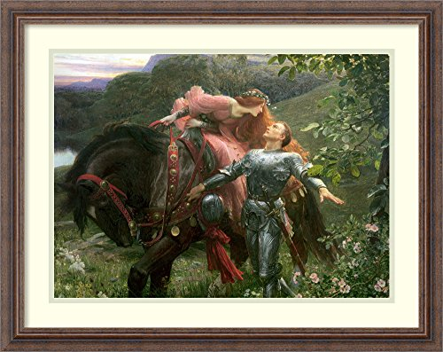 Framed Art Print 'La Belle Dame Sans Merci, exh.1902' by Sir Frank Bernard - Merci Dame Framed Sans Belle