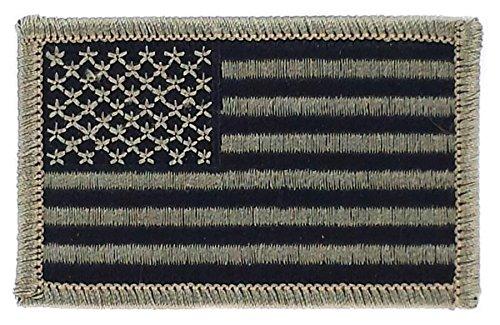 Patch Aufnäher bestickt Flagge USA USA-Side Camouflage Schwarz Airsoft