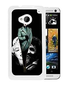 marilyn manson fan art White Hard Plastic HTC ONE M7 Phone Cover Case