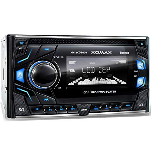XOMAX XM-2CDB620 Car Stereo with CD-Player + Bluetooth hands-free & music streaming + USB port (plays up to 128 GB) and…