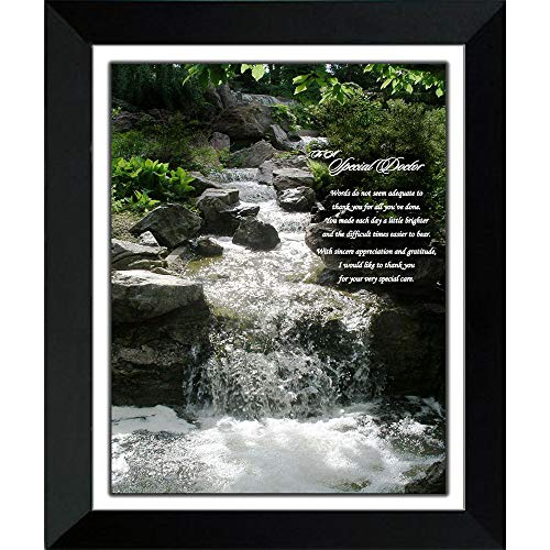 Poetry Gifts Doctor Thank You Gift - Waterfall Photo with Sincere Poem in 8x10 Frame