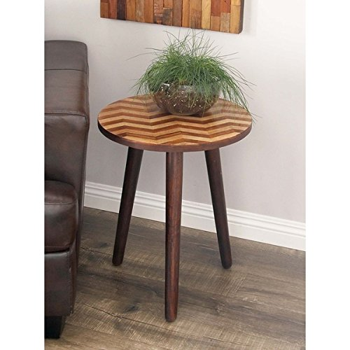 Studio 350 Wood Rd Accent Table 18 inches wide, 22 inches high by Studio 350 (Image #3)