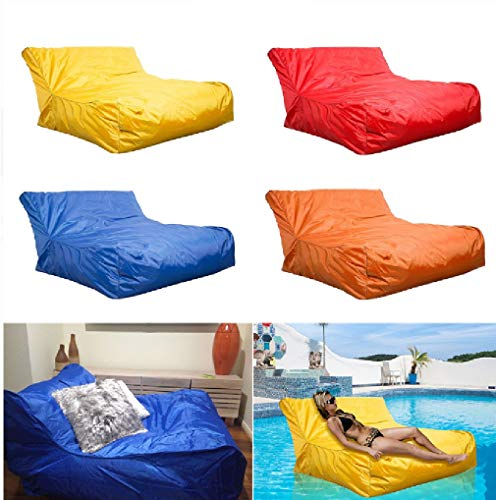 (BABYBOOPER Swimming Pool Floating Bean Bag Cover Waterproof Reading Relaxing Soft Lounge Chair Sofa, Floating Bean Bag Cover, Swimming Bean Bag Cover (Red))