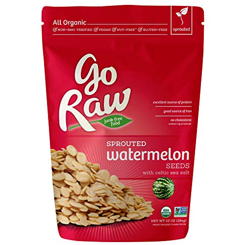 Go Raw Organic Sprouted Superfood Watermelon Seeds (pack of 1 x 10-ounce bags)