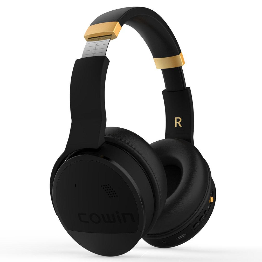 7b6679fee37 COWIN E8 Active Noise Cancelling Headphone Bluetooth Headphones with Mic Hi-Fi  Deep Bass Wireless Headphones Over Ear Stereo Sound 20 Hour Playtime for ...