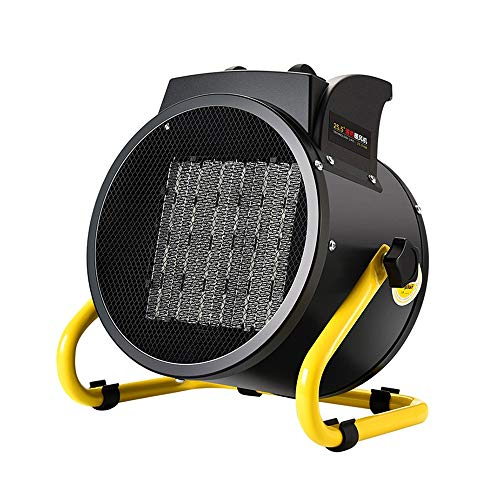 LHA Heater 2KW Industrial Fan Heater With Adjustable Thermostat For Garage Workshop Greenhouse heating ()
