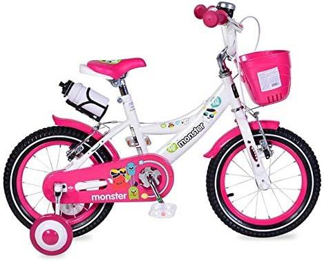 Byox Bicicleta para niños 14 Pulgadas 1481 Rosa, Ruedas de Apoyo ...