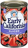Early California Sliced Ripe Black Olives, (12) 6.5-Ounce Cans