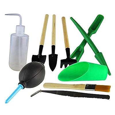 VORCOOL 10pcs Mini Iron Hand Shovel Plant Tool Set for Garden / Outdoor / Camping