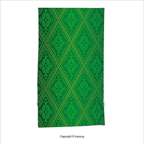 Vipsung Microfiber Ultra Soft Hand Towel-Green Decor Vector Illustration Seamless Pattern Of Foliage Wallpaper Decorative Pattern Forest Green For Hotel Spa Beach Pool Bath