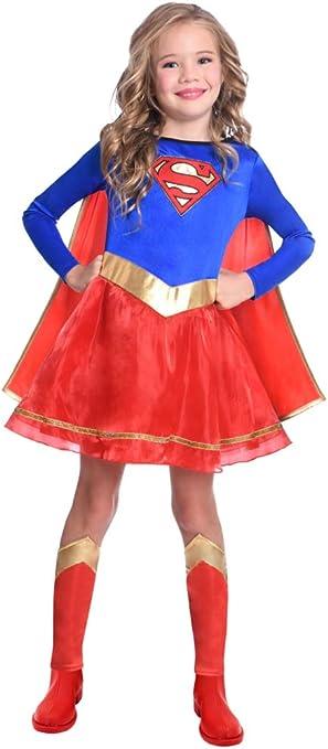 Disfraz de Warner Bros Supergirl clásico para niñas y niños (Edad ...