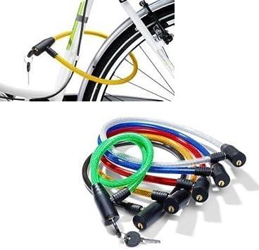Heavy Duty Sécurité Acier Spirale Câble Bicyclette Combinaison Vélo Serrure 10mmx 650 mm