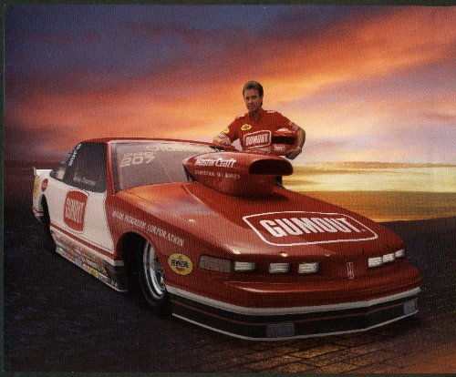 Mike Thomas Cumout Oldsmobile Cutlass Pro Stock NHRA print 1995 (Cutlass Stock)