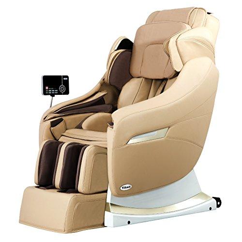 Titan Pro-Executive C Massage Chair, Beige, Zero Gravity Massage, 3D Intelligent Massage Technology, Toe Massage, Adjustable Shoulder Massage, Arm Massage, 2 Stage Recline Positioning For Sale