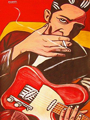 (JOE STRUMMER PRINT POSTER guitar cd lp record album vinyl Clash fender telecaster london)