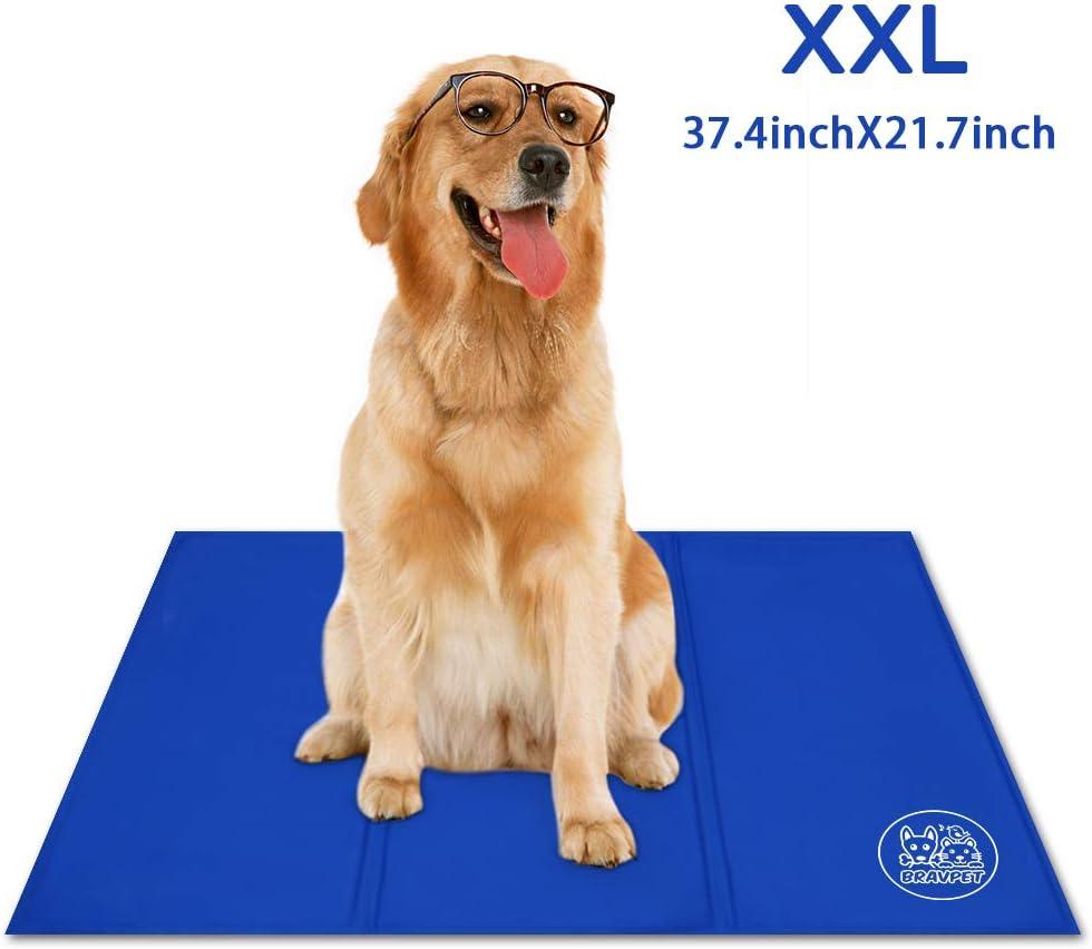 Bravpet Alfombra Refrescante , Relleno Autorefrigerante para mascotas, Comodidad para Perros y Gatos