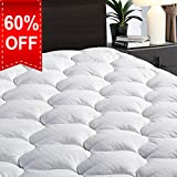 "Overfilled Fitted Mattress Pad Cover(8-21""Deep Pocket)-Cooling..."