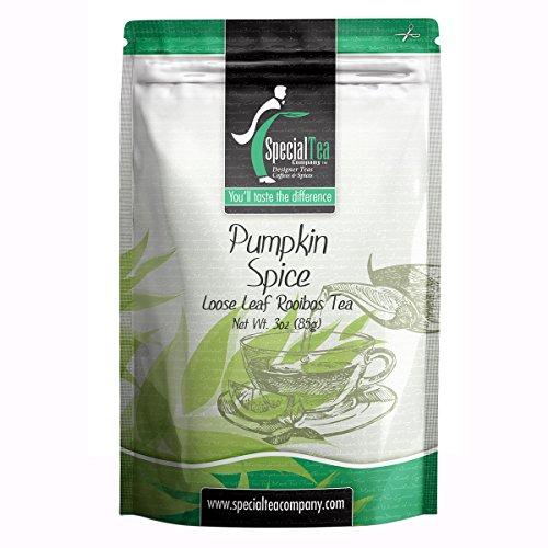 Special Tea Rooibos Tea Loose Leaf Tea, Pumpkin Spice, 3 Ounce -