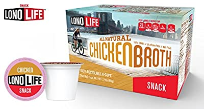 LonoLife Hearty Chicken Broth - 10 Count Snack - For your Keurig Style Brewer by LonoLife