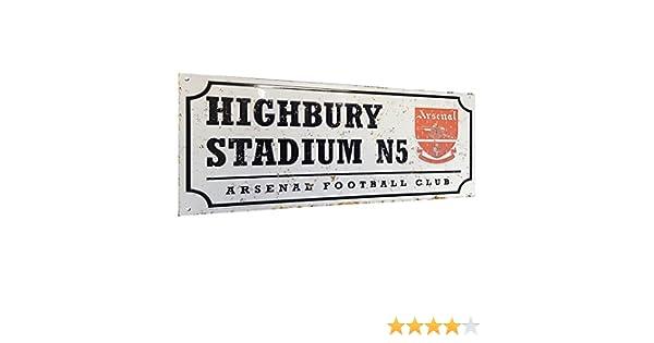 Highbury Arsenal  Metal Sign Football Vintage Sign Antique Style Sign