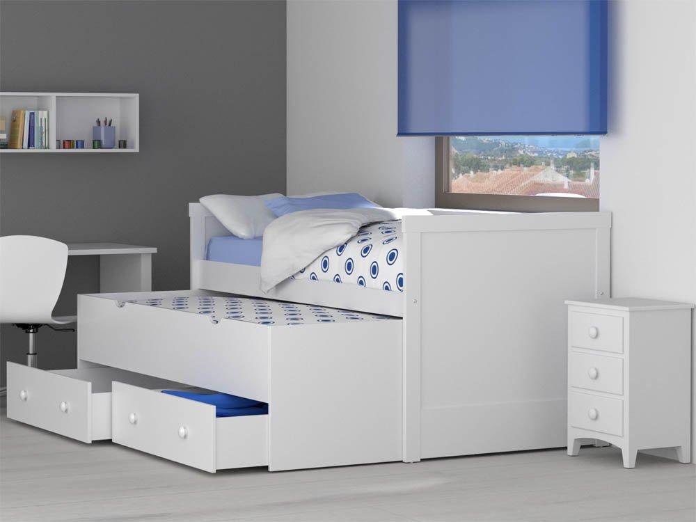 Infantiles con cama nido dormitorio infantil con cama for Cama compacta infantil