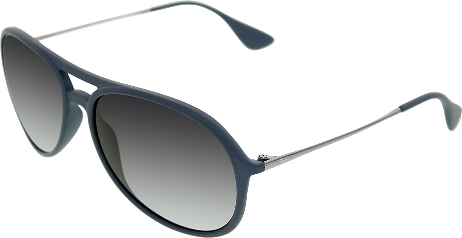 cd3d6524bd Ray-Ban Alex Aviator Sunglasses in Blue Rubber RB4201 60028G 59   Amazon.co.uk  Clothing