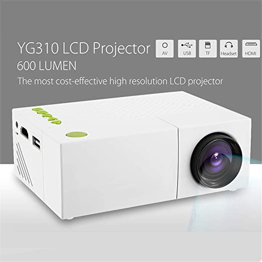 YHYGOO Mini proyector, portátil 1080P LED proyector de vídeo LCD ...