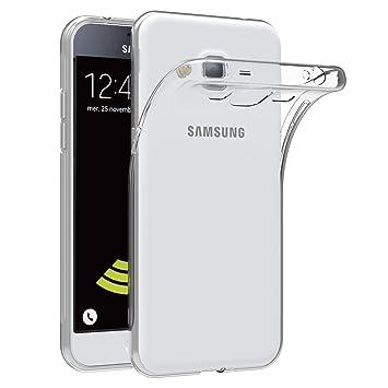 AICEK Funda Compatible Samsung Galaxy J3 2016, Transparente Silicona Fundas para Galaxy J3 2016 Carcasa Silicona Funda Case (5,0 Pulgadas)