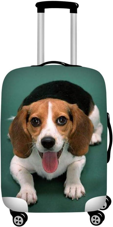 Medium YORXINGY Luggage Cover Waterproof Washable Travel Carry On Cute Beagle Dog Animal Print Suitcase Cover Spandex Baggage Cover for Luggage