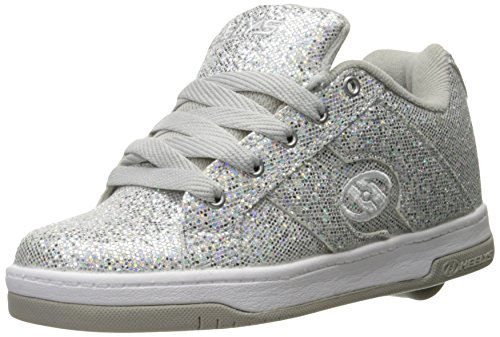US Silver Girls' Split 5 Big Kid M Glitter Heelys Disco Sneaker BPgqUw