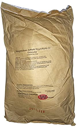 Magnesium Sulfate Heptahydrate [MgSO4.7H2O] [CAS_10034-99-8] 99.5+%, White Crystalline Granular for Industrial uses - Manufacturing - Agriculture (50 Lbs Bag) by Wintersun Chemical