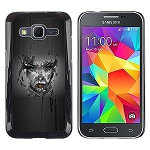 LECELL -- Funda protectora / Cubierta / Piel For Samsung Galaxy Core Prime SM-G360 -- Girl Camo Portrait --