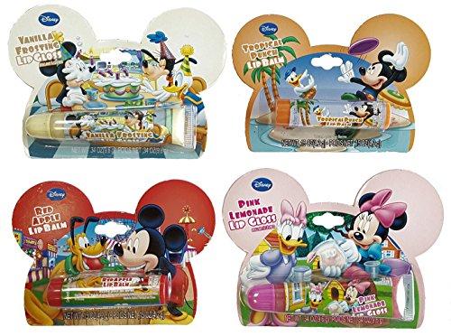 Disney© 4 Pack Lot Flavored LIP BALM & GLOSS Assortment - Lip Gloss Assortment