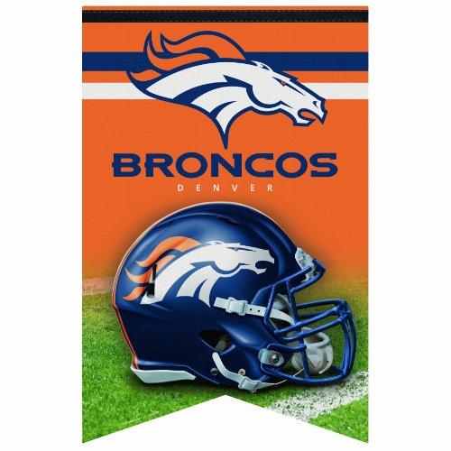 Nfl Premium Banner (NFL Denver Broncos Premium Quality Banner, 17 x 26-Inch)