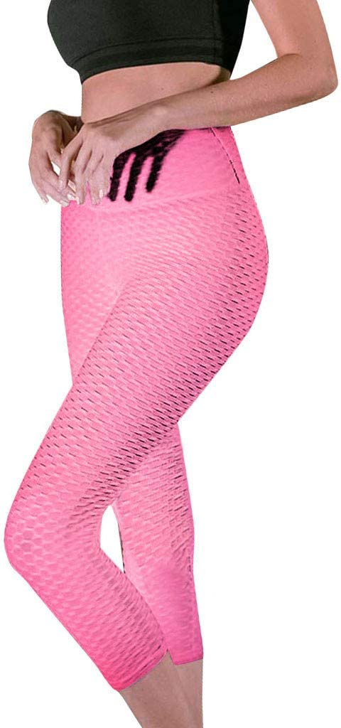 +MD Womens Tummy Control Yoga Leggings with Hidden Pocket High Waist Colorful Athletic Pants for Workout Running