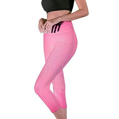 Lunule Mujer Cintura Alta Pantalones de Yoga Push up Mallas ...
