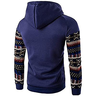 Reedbler Men's Casual Ethnic Style Pullover Hoodies Sweatshirt Sports Tops 88G0 for cheap