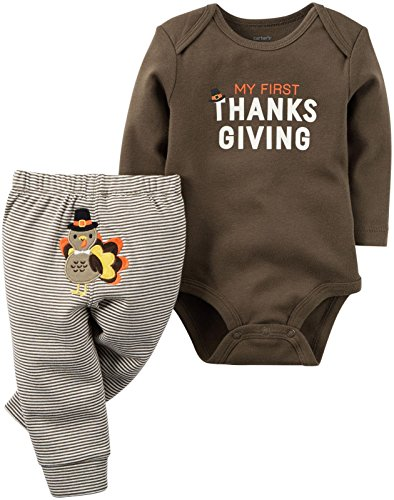 Carter's Baby 2 Pc Sets 119g097, Brown, 3 Months ()