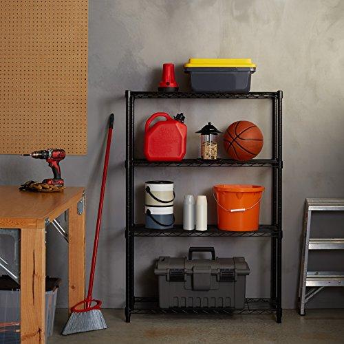 AmazonBasics 4-Shelf Shelving Unit - Black by AmazonBasics (Image #3)