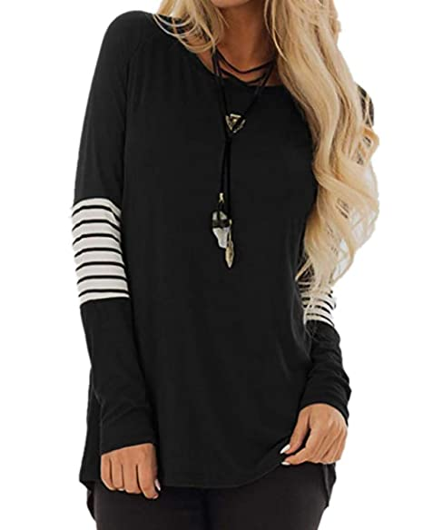 feb220e282abd9 Plus Size Tunics for Women Soft t-Shirt Long Sleeve Pullover Tops Loose  Lightweight Tunic