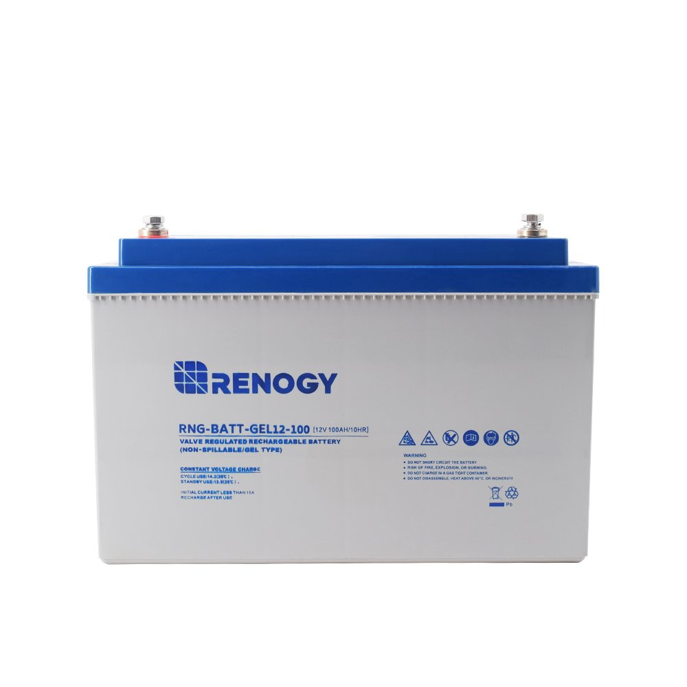 Renogy 12v 100ah Rechargeable Deep Cycle Pure Gel Voltages And Sizes Of Batteries In A Series Or Parallel Circuit Battery Garden Outdoor