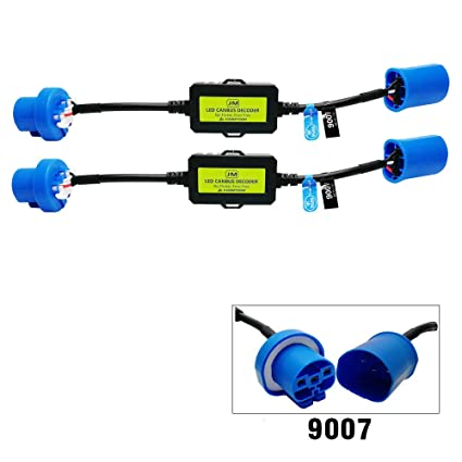 KOOMTOOM 9007 HB5 Canbus Decoder Led Resistor Anti flicker Arnés ...