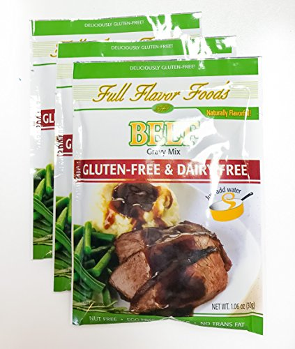 Full Flavor Foods Beef Gluten-Free Gravy Mix pack of (Full Flavor Foods)
